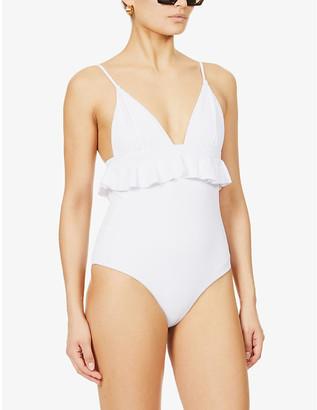Casa Raki Marta frilled-trim recycled polyamide-blend swimsuit