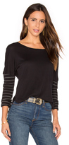 Splendid Alpine Stripe Long Sleeve Top