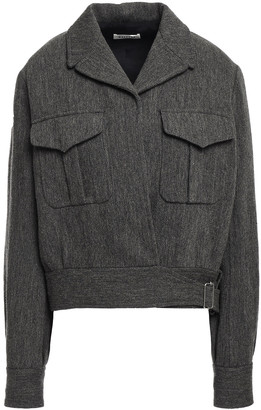 Masscob Doyle Buckled Herringbone Wool And Linen-blend Jacket
