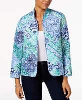 Alfred Dunner Petite Montego Bay Printed Reversible Jacket