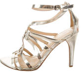 Vera Wang Metallic Cage Sandals