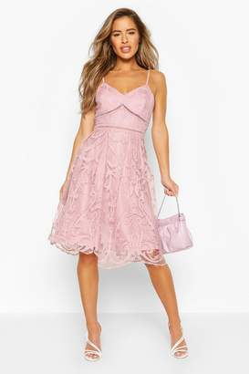 boohoo Petite Premium Lace Midi Dress