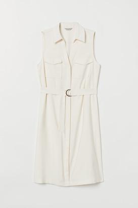 H&M Dress with Belt - White