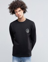 Cheap Monday State Sweatshirt Skull Small Logo Black