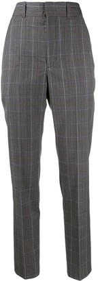 Etoile Isabel Marant Nelson check slim-fit trousers