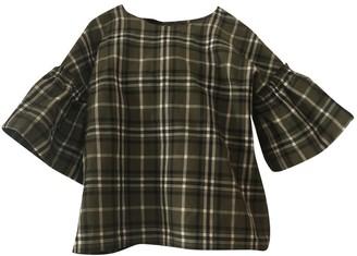 Birgitte Herskind Khaki Cotton Top for Women