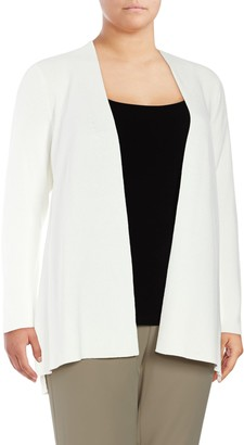 Calvin Klein Collection Plus Solid Ribbed Duster