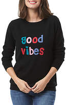 Sugarhill Boutique Good Vibes Merino Wool Jumper, Black
