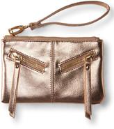 Faux Leather Leash-Strap Wristlet