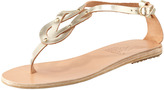 Ancient Greek Sandals Hercules Knotted Thong Sandal, Platinum