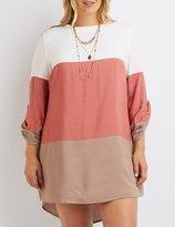 Charlotte Russe Plus Size Color Block Shift Dress