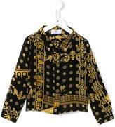 Young Versace - 'Cornici' print shirt - kids - Silk - 4 yrs