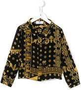 Young Versace 'Cornici' print shirt
