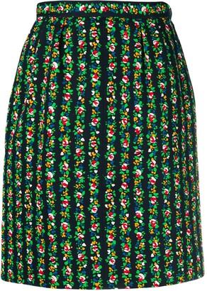 Saint Laurent Pre-Owned floral print skirt