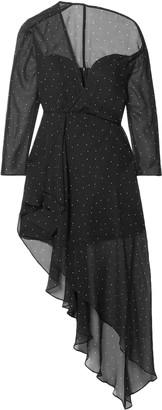 Mason by Michelle Mason One-shoulder Polka-dot Silk-chiffon Dress