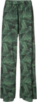 Baja East palm print trousers - women - Polyester - 0