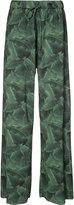 Baja East palm print trousers