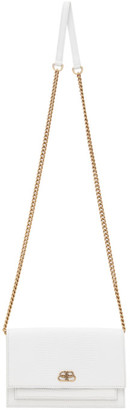 Balenciaga White Lizard Sharp Chain Shoulder Bag
