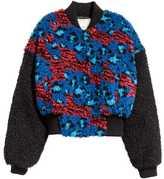 H&M Pile Bomber Jacket - Black/blue - Ladies
