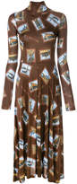 Golden Goose Deluxe Brand Postcard print dress