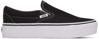 Vans Black Classic Slip-On Platform Sneakers