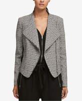 DKNY Mixed-Media Jacquard Blazer, Created for Macy's