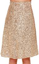Lettre d'amour Women Sequins A-Line Skirt Pencil Dress Bottoms M