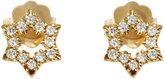 Lana 14k Pave Diamond Mini Star of David Stud Earrings
