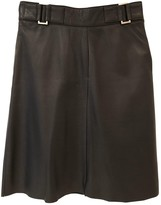 Oakwood Black Leather Skirt for Women