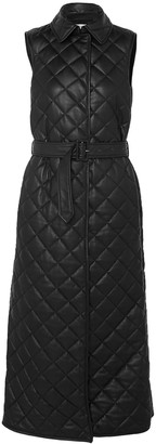 Gabriela Hearst Rodenko Belted Quilted Leather Vest