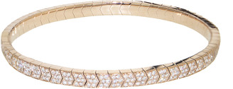 Jacquie Aiche Full Pave Stretch Bracelet in All Diamond - Rose Gold