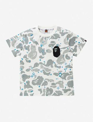 A Bathing Ape Space Camo Ape Head-print cotton T-shirt 4-8 years