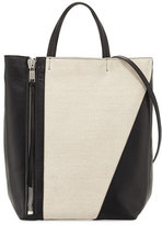Elena Ghisellini Cosmo Medium Canvas Tote Bag, Salt/Pepper