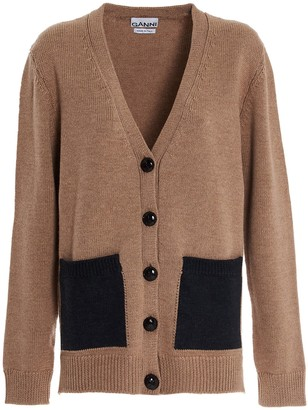 Ganni V-Neck Knitted Cardigan