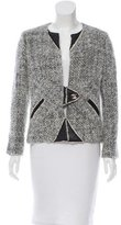 Chanel Leather-Accented Mohair Jacket