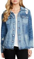 Jessica Simpson Superloved Peri Embroidered Denim Jacket