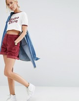 Asos Cord Tailored Short in Oxblood