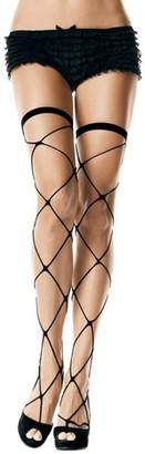 Leg Avenue Women's Jumbo Fishnet Thigh Highs