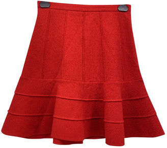 Miu Miu Red Wool Skirts