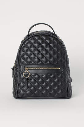 H&M Quilted Backpack - Black