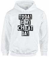 Awkward Styles Unisex Today Is My Cheat Day Funny Dieting Graphic Hoodie Tops XL