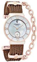 Charriol Women's Swiss St. Tropez Bronze-Tone PVD Stainless Steel Cable Bracelet Watch (30mm)