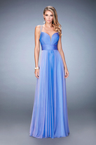 La Femme 22503 Ruched Deep Sweetheart A-line Dress