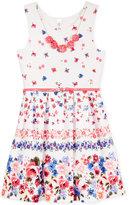 Beautees Floral-Print Skater Dress, Big Girls (7-16)
