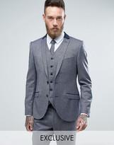 Heart & Dagger Skinny Suit Jacket In Tweed