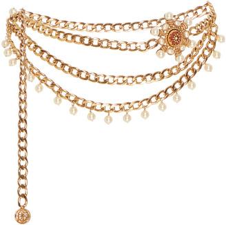 Markarian Valeria Embellished Gold-Plated Belt