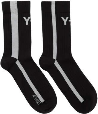 Y-3 Y 3 Black Logo Socks