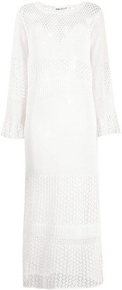 Semi-Couture Crochet Knit Maxi Dress