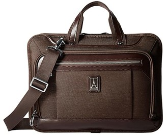 Travelpro Platinum(r) Elite - Slim Business Brief (Shadow Black) Briefcase Bags