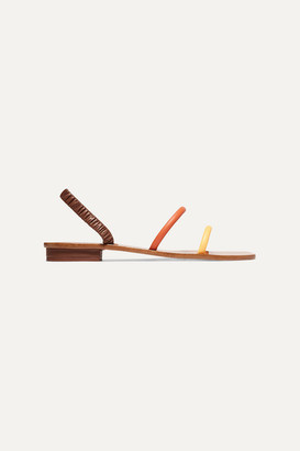 Cult Gaia Mona Leather Sandals - Brown